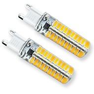 billige -2pcs 3 W LED-lamper med G-sokkel 240 lm G9 T 80 LED perler SMD 5730 Dekorativ Smuk 220 V 110 V