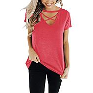 billige -T-skjorte Dame - Ensfarget Rød US8 / UK12 / EU40