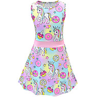 cheap -Kids Toddler Girls' Active Street chic Cartoon Sleeveless Above Knee Dress Blushing Pink
