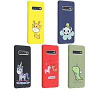 Case For Samsung Galaxy Galaxy S10 Plus / Galaxy S10 E Frosted / Pattern Back Cover Animal / Cartoon Soft TPU for S9 / S9 Plus / S8 Plus