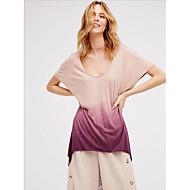 billige -T-skjorte Dame - Fargeblokk Rosa US8 / UK12 / EU40