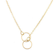 cheap -Women's Necklace Chrome Gold Silver 43 cm Necklace Jewelry 1pc For Daily School Street Holiday Festival