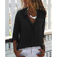 billige -Skjorte Dame - Ensfarget Grunnleggende Hvit US10 / UK14 / EU42