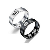 cheap Couple Rings-Couple's Couple Rings / Ring 1pc Black /