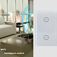baratos -controle remoto interruptor de controle remoto de voz interruptor de 2 chaves de casa inteligente