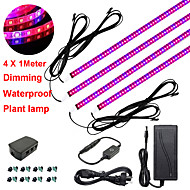 お買い得  -zdm 4x1m 36w調光LED植物学成長棚温室用植物用赤青スペクトルの成長ライトストリップと12v 3aアダプター