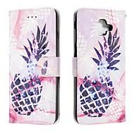 cheap -Case For Samsung Galaxy J6 (2018) / J4 (2018) / Galaxy J4 Plus(2018) Wallet / Card Holder / Flip Full Body Cases Food PU Leather For Samsung Galaxy J6 Plus/M10/M20/M30
