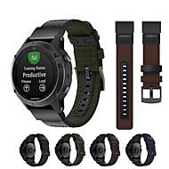 cheap -Woven Nylon Watch Band Wrist Strap for Garmin Fenix 5 / Approach S60 / Forerunner 935 / 945 / Quatix 5 / Quatix 5 Sapphire / Fenix 6 / Fenix 5 Plus Easy Quick Fit Bracelet Wristband