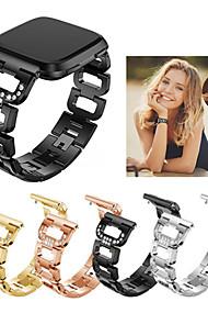tanie -Watch Band na Fitbit Versa Fitbit Pasek sportowy Stal nierdzewna Opaska na nadgarstek