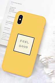 cheap -Case For Apple iPhone XR XS XS Max Pattern Back Cover Word / Phrase Soft TPU for iPhone XS / iPhone XR / iPhone XS Max