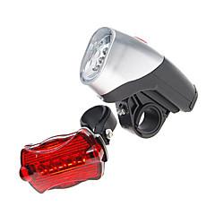 اضواء الدراجة ضوء الدراجة الأمامي ضوء الدراجة الخلفي LED ركوب الدراجة AAA شمعة بطارية أخضر