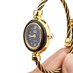 Damskie Modny Zegarek na bransoletce Kwarcowy Metal Pasmo Bransoletka-Kółko Czarny ZłotyCzerwony Light Blue Gold-Black Light Pink