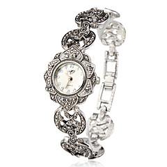 cheap Watch Deals-Women's Quartz Bracelet Watch Japanese Casual Watch Alloy Band Flower / Elegant / Fashion Silver