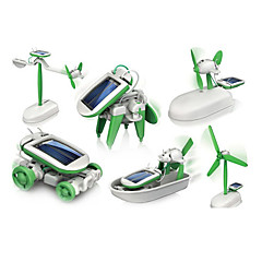 cheap Solar Powered Gadgets-6 In 1 Robot Toy Cars Solar Powered Toys Space Toys Science & Discovery Toys Toys Solar Powered ABS Plastic Pieces Boys' Girls' Gift