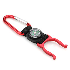 3-in-1 Multifunctional Tool Compass Carabiner Clip with A Torch Holder