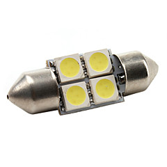 High-performance 31mm 4*5050 SMD White LED Car Signal Light