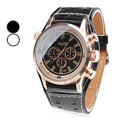 お買い得  メンズ腕時計-男性用 クォーツ リストウォッチ 日本産 バンド チャーム ブラック / 白