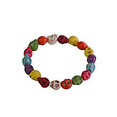 preiswerte Armbänder-Damen Strang-Armbänder - Totenkopf Armbänder Regenbogen Für Party Alltag Normal