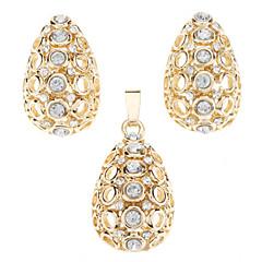 Χαμηλού Κόστους Σετ Κοσμημάτων-Κοσμήματα-Κολιέ / Cercei(Κρύσταλλο / Αχάτης / Πετράδι)Γάμου Δώρα Γάμου