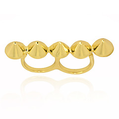 Vergoldete Nail Shaped Conjoined Ring