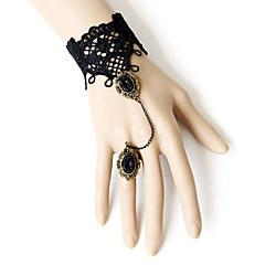 Női Ékszer készlet Bilincs karkötők Veterán Karkötők Gyűrű karkötők Egyedi Divat Európai Szintetikus drágakövek Csipke Anyag Ékszerek