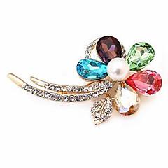 flor de cristal con diamantes broche de brillantes