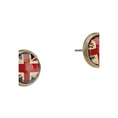 Серьги-гвоздики Акрил Сплав Английский Флаг Союз Джек Бижутерия Повседневные