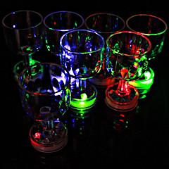 لون امض كأس صغير مع ضوء فلاش LED (1 قطعة)