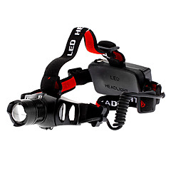 LED Flashlights / Torch Headlamps Headlight LED 200 lm 3 Mode Cree XR-E Q5 Adjustable Focus Rechargeable Tactical Zoomable for