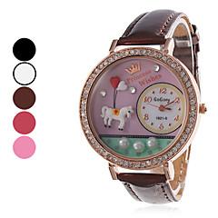 preiswerte Tolle Angebote auf Uhren-Damen Armbanduhr Quartz Schlussverkauf Band Analog Freizeit Uhr mit Wörtern Schwarz / Weiß / Rot - Rose Braun Rot