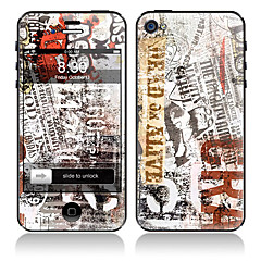Newspaper Design Front et Back pleins autocollants de protecteur de corps pour l'iPhone 5