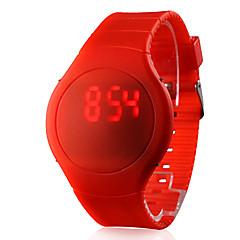 preiswerte Herrenuhren-Herrn Armbanduhr Touchscreen / Kalender / Kreativ Silikon Band Schwarz / Weiß / Rot / LED