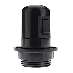 economico Accessori LED-titolare e27 colore nero lampada portalampada base con interruttore (4a, 250v)