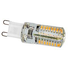 tanie Żarówki LED-210 lm G9 Żarówki LED kukurydza 64 Diody lED SMD 3014 Ciepła biel AC 220-240V