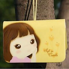 porta cartão tema menina (cor aleatória, por 12 cartões)
