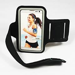 billige Galaxy S3 Etuier-For Med vindue Armbånd Etui Armbånd Etui Helfarve Blødt Tekstil for Universal S4 S3 S2 S