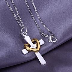 preiswerte Halsketten-Anhänger  -  Kreuz, Herz Liebe, Herz Modische Halsketten Für Danke, Valentinstag