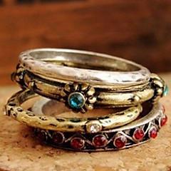 preiswerte Ringe-Damen Bandring - Kupfer, Strass, Aleación Volkston Für Party Alltag Normal