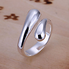 cheap Rings-Women's Silver Plated / Alloy Band Ring - Open / Adjustable Silver Ring For Party