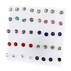 Damskie Kolczyki na sztyft minimalistyczny styl Modny biżuteria kostiumowa Kryształ górski Stop Biżuteria Biżuteria Na Impreza Codzienny