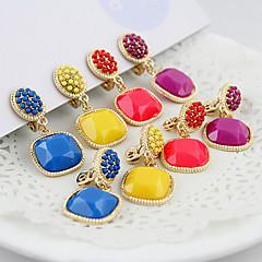 voordelige Oorbellen-Dames - Modieus Rood Groen Blauw oorbellen Voor Speciale gelegenheden