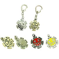 Mai multe accesorii Inspirat de One Piece Trafalgar Law Anime Accesorii Cosplay breloc Roșu / Galben / Auriu / Argintiu Aliaj Bărbătesc