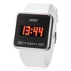 お買い得  大特価腕時計-SKMEI 男性用 リストウォッチ タッチスクリーン / カレンダー / LED シリコーン バンド チャーム ブラック / 白 / 2年 / Maxell626 + 2025