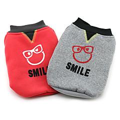 tanie Ubranka i akcesoria dla psów-Pies Płaszcze Ubrania dla psów Litery Gray Czerwony Kostium Dla zwierząt domowych