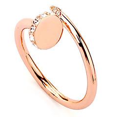 anillos de diamantes de imitación transparentes de las mujeres de la moda (transparente) (1 pc)