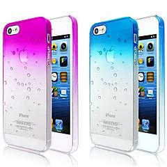 お買い得  iPhone 5 ケース-iPhone 5 / 5S用のグラデーションカラー透明バックケース(アソートカラー)を泡