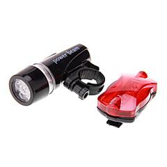 Kerékpár világítás Kerékpár első lámpa Kerékpár hátsó lámpa LED Kerékpározás Vízálló LED fény AAA 100 Lumen AkkumulátorBattery