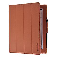 abordables Moda Destacada-Funda Para iPad 4/3/2 con Soporte / Activado / Apagado Automático / Origami Funda de Cuerpo Entero Color sólido Cuero de PU para