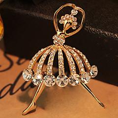 De înaltă calitate de cristal Balet fata broșă