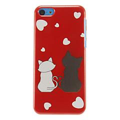 сладкий любителей кошек шаблон жесткий футляр для Iphone 7 7 плюс 6с 6 плюс се 5с 5с 5 4s 4